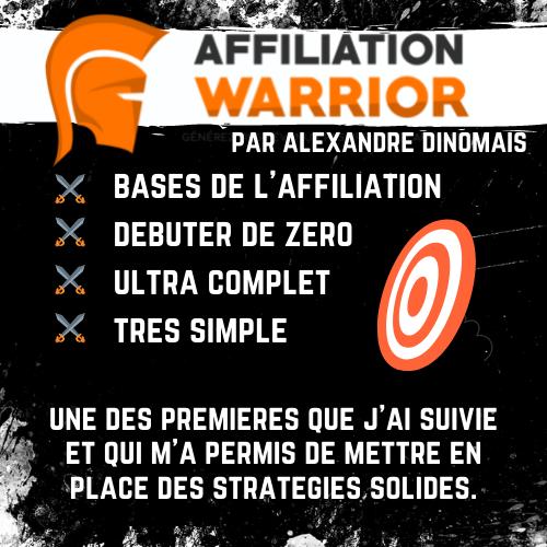 affiliation warrior alexandre dinomais formation affiliation débutants