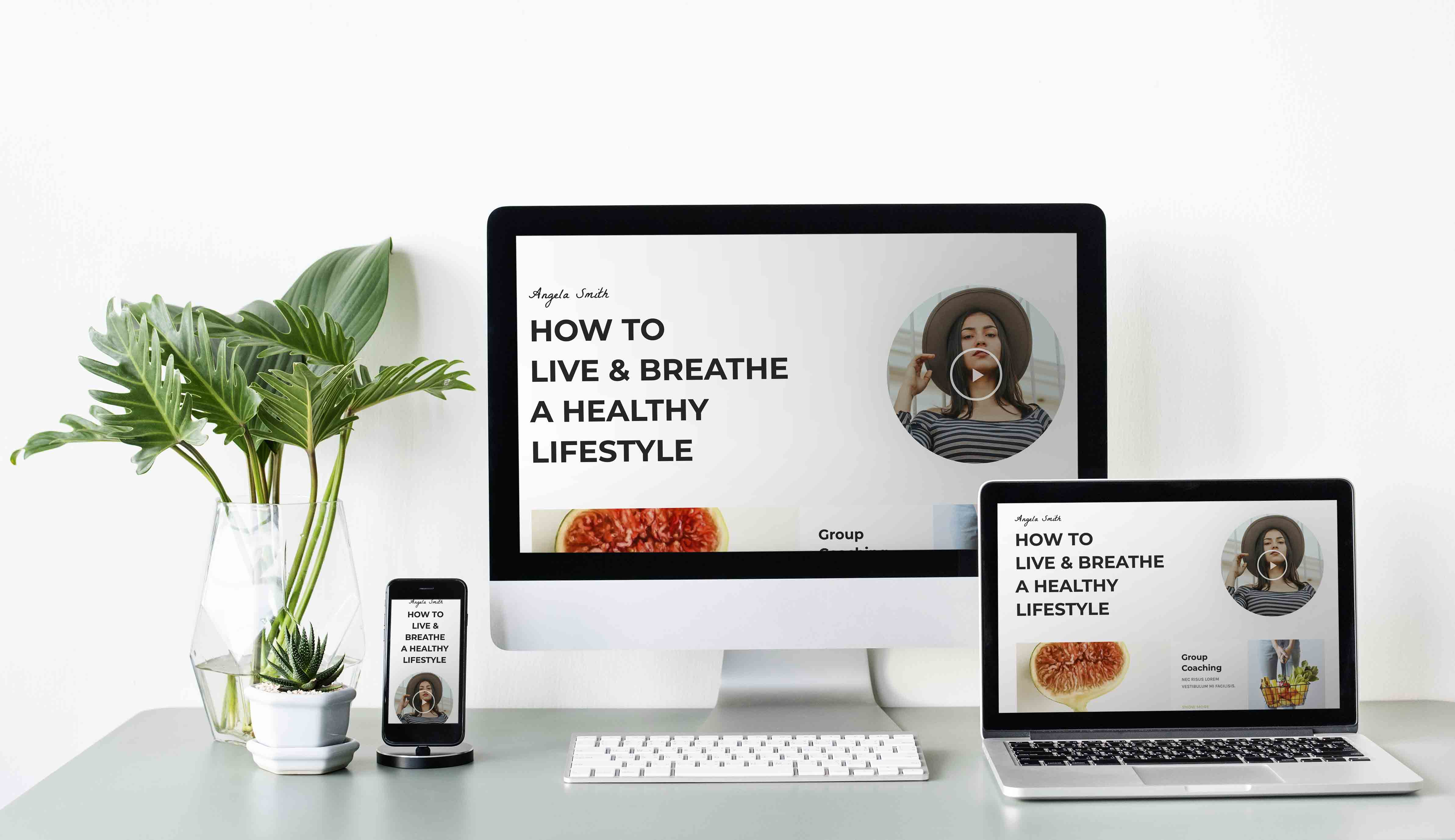 Template Wordpress + Elementor pour Nutritionniste