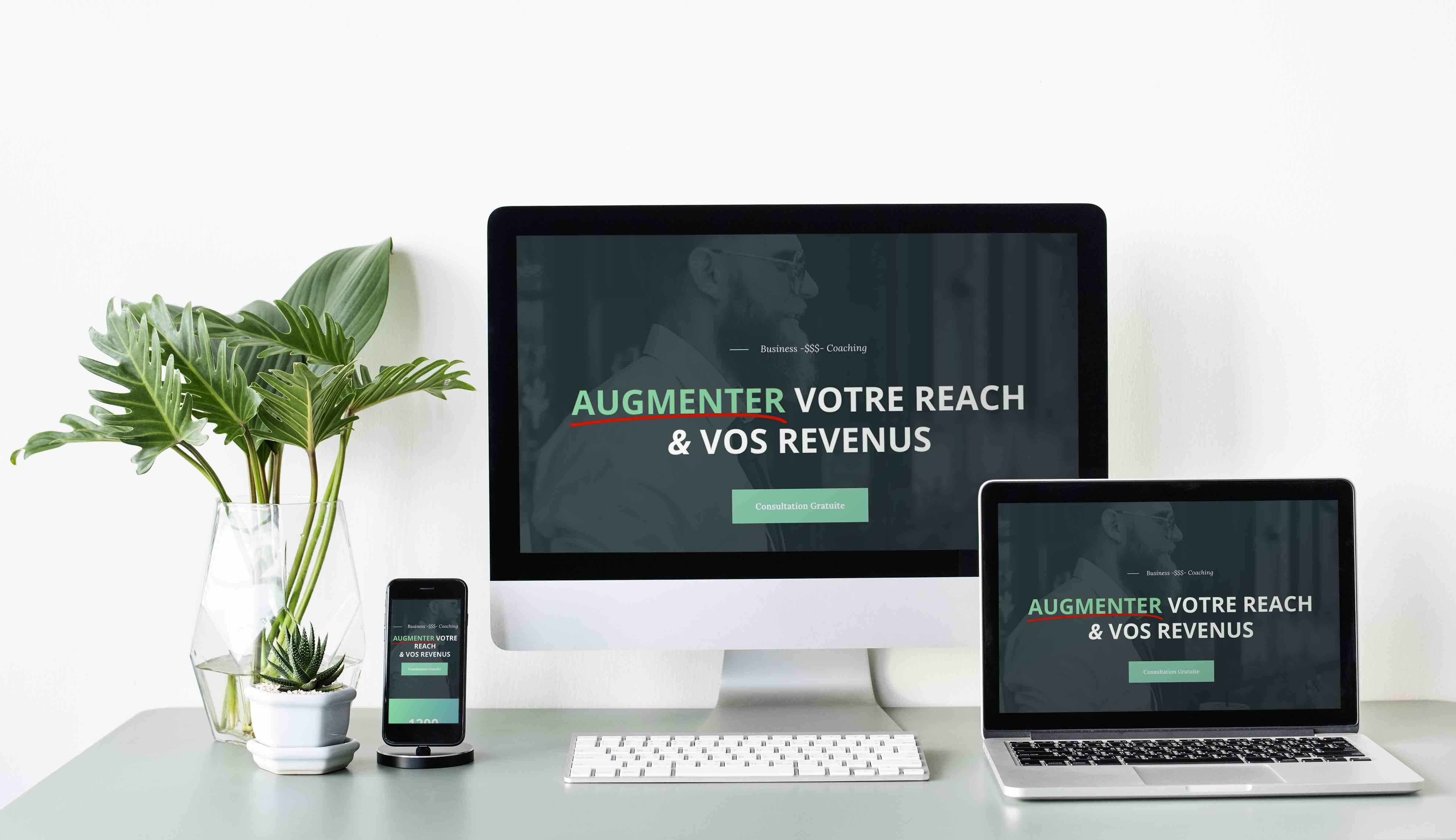 Template Wordpress + Elementor pour Coach Business