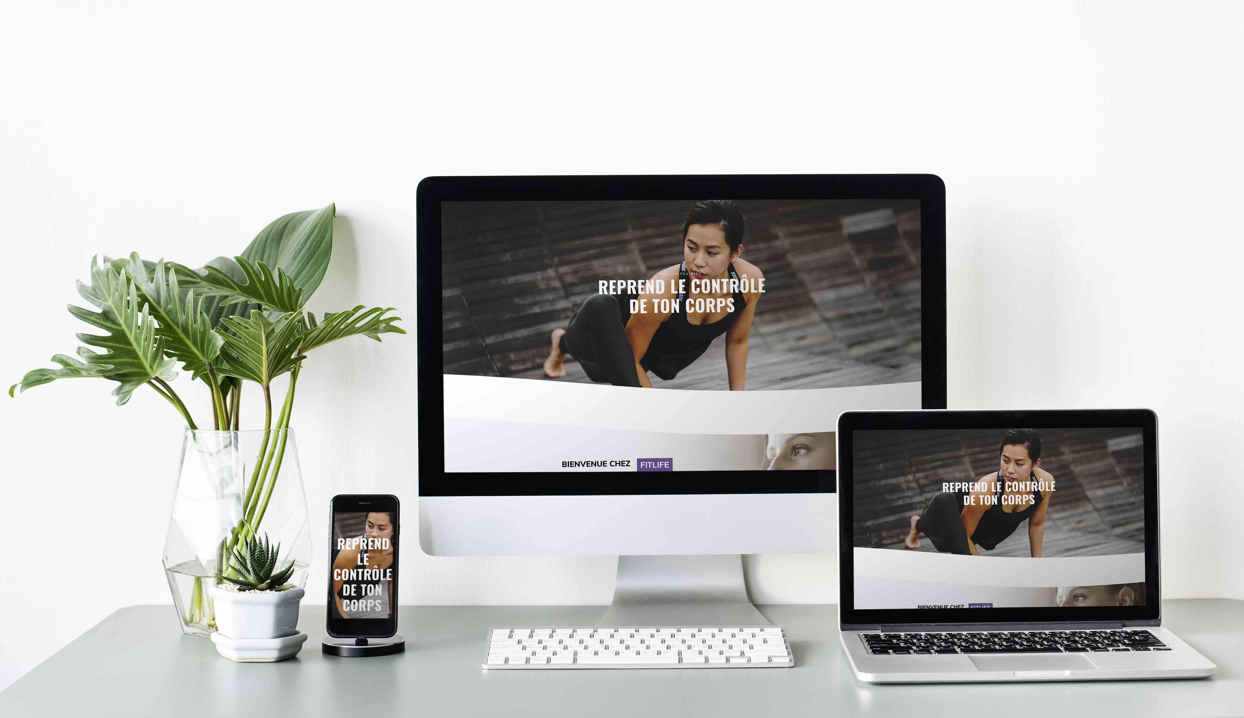 Template Wordpress + Elementor pour Coach fitness femme