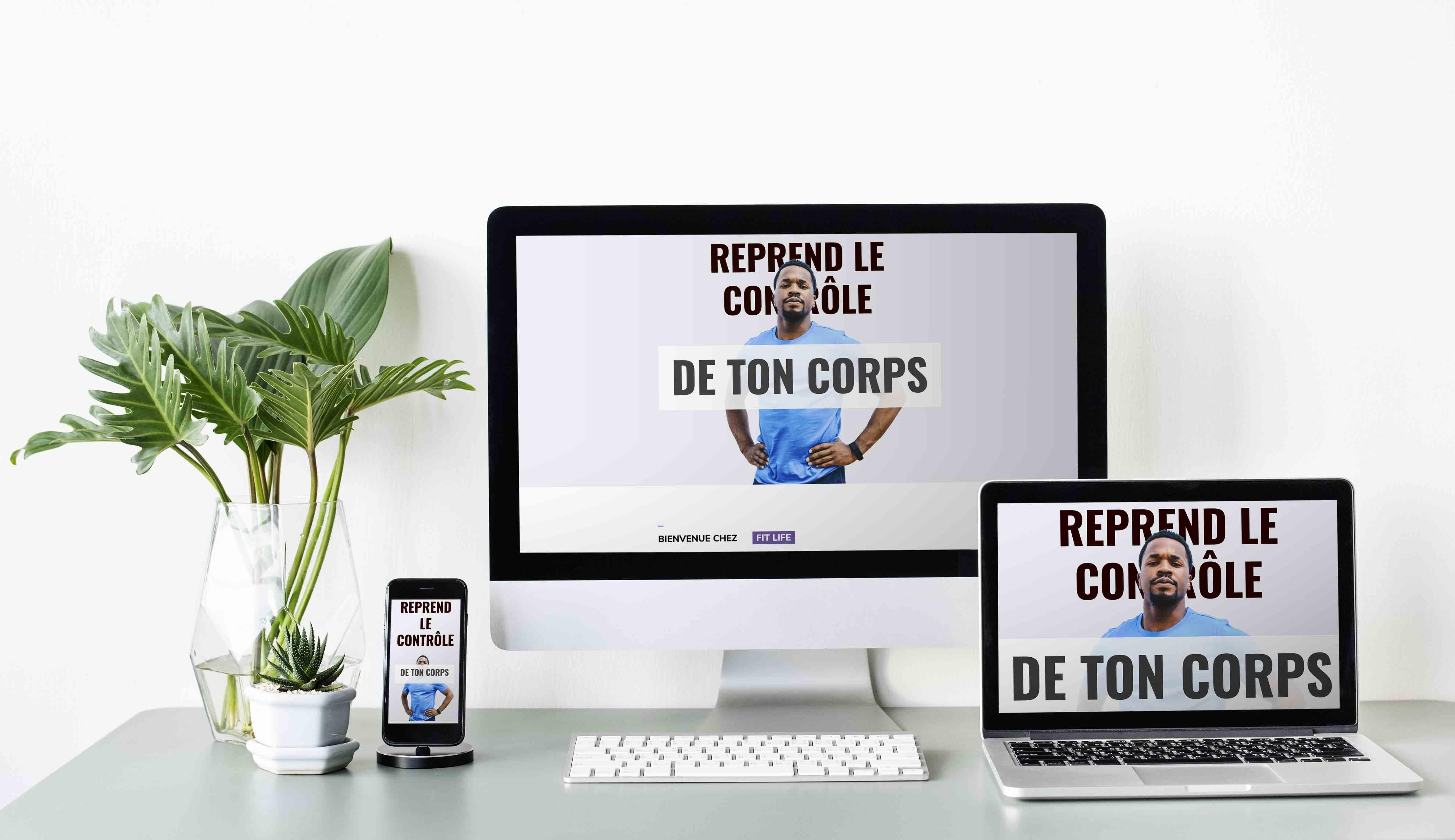 Template Wordpress + Elementor pour Coach Sportif Homme