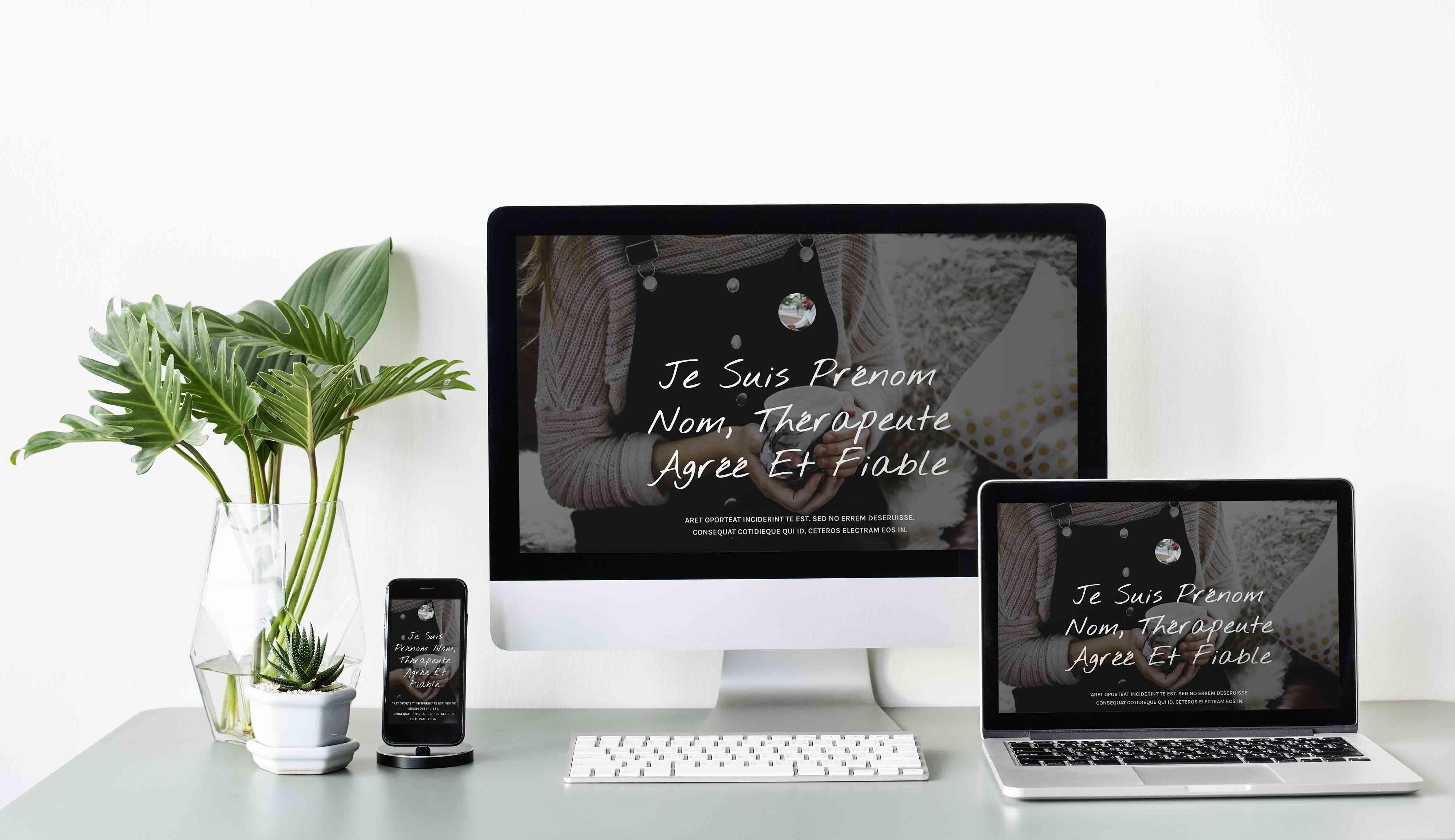 Template Wordpress + Elementor pour Thérapeute