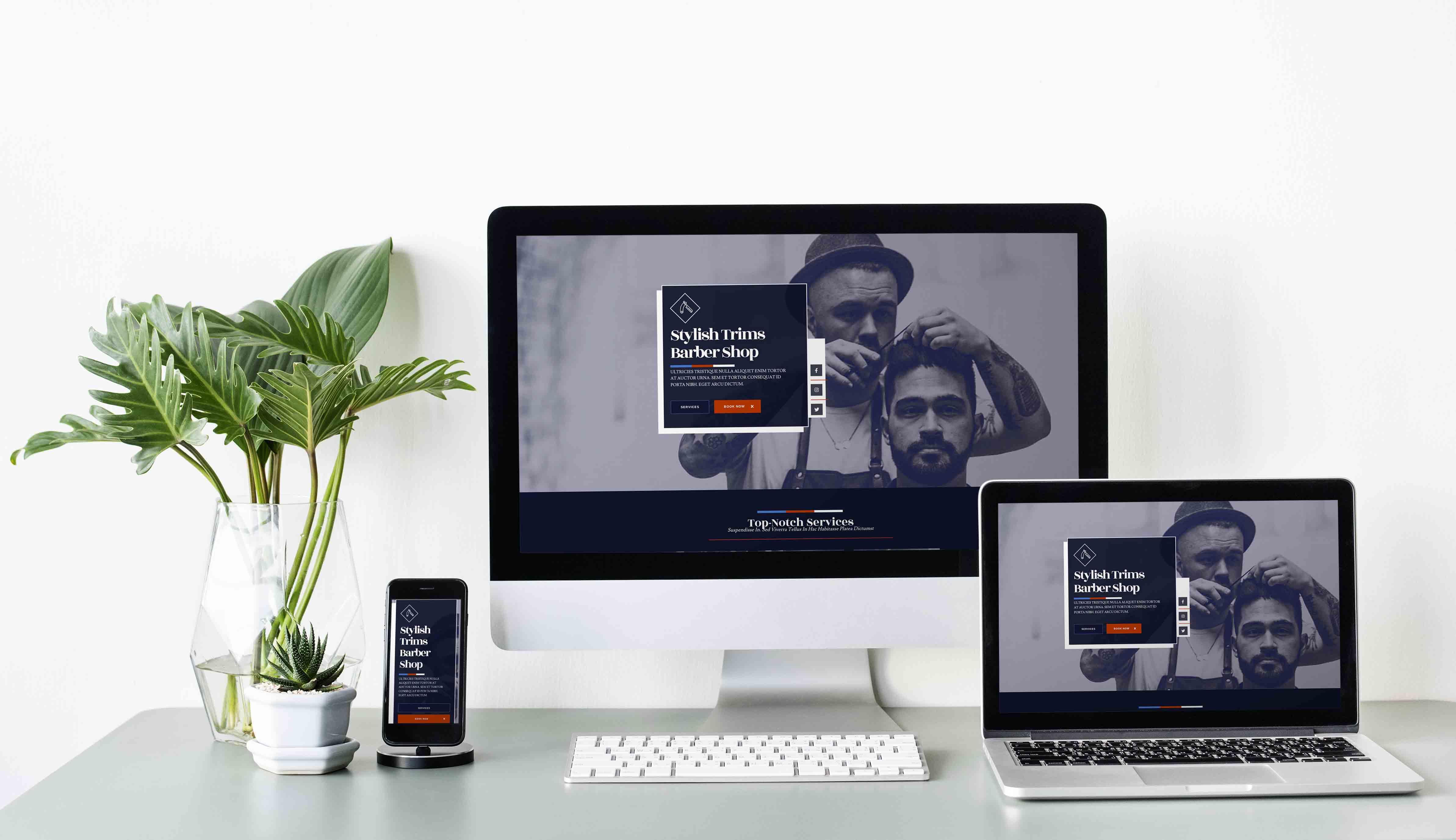 Template Wordpress + Elementor pour Coiffeur / BarberShop