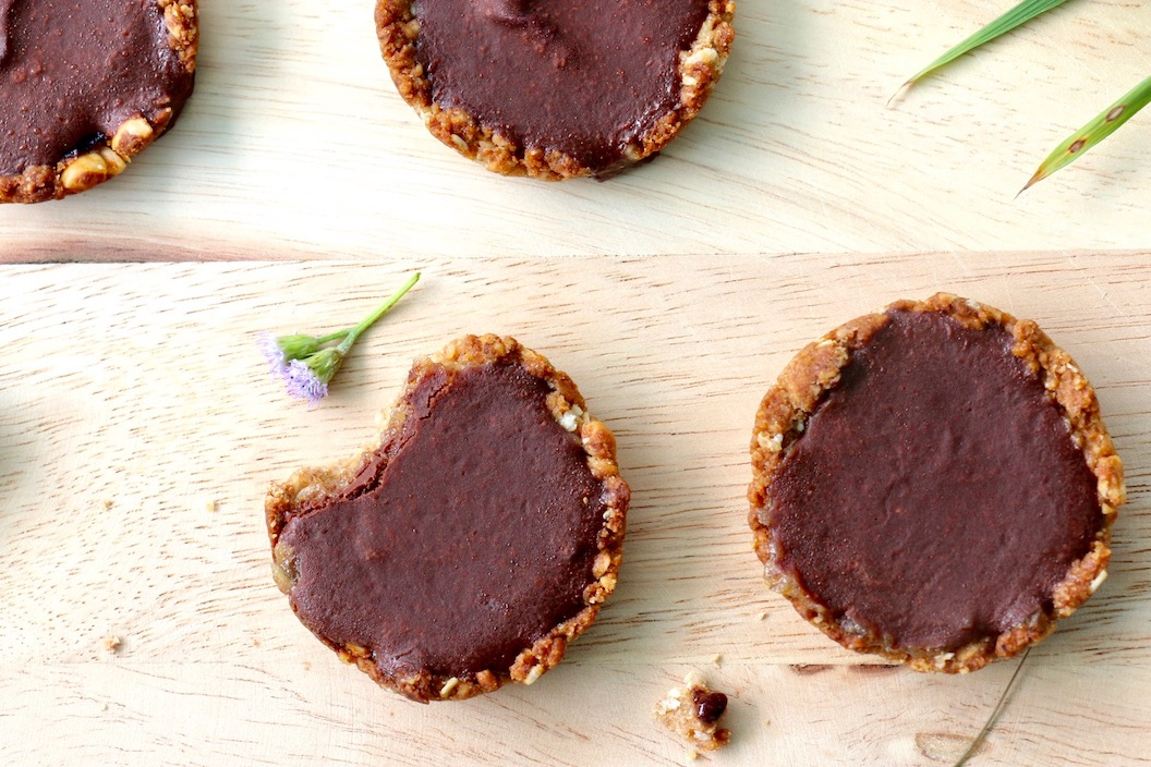 mini-tartelettes chocolat myrtilles