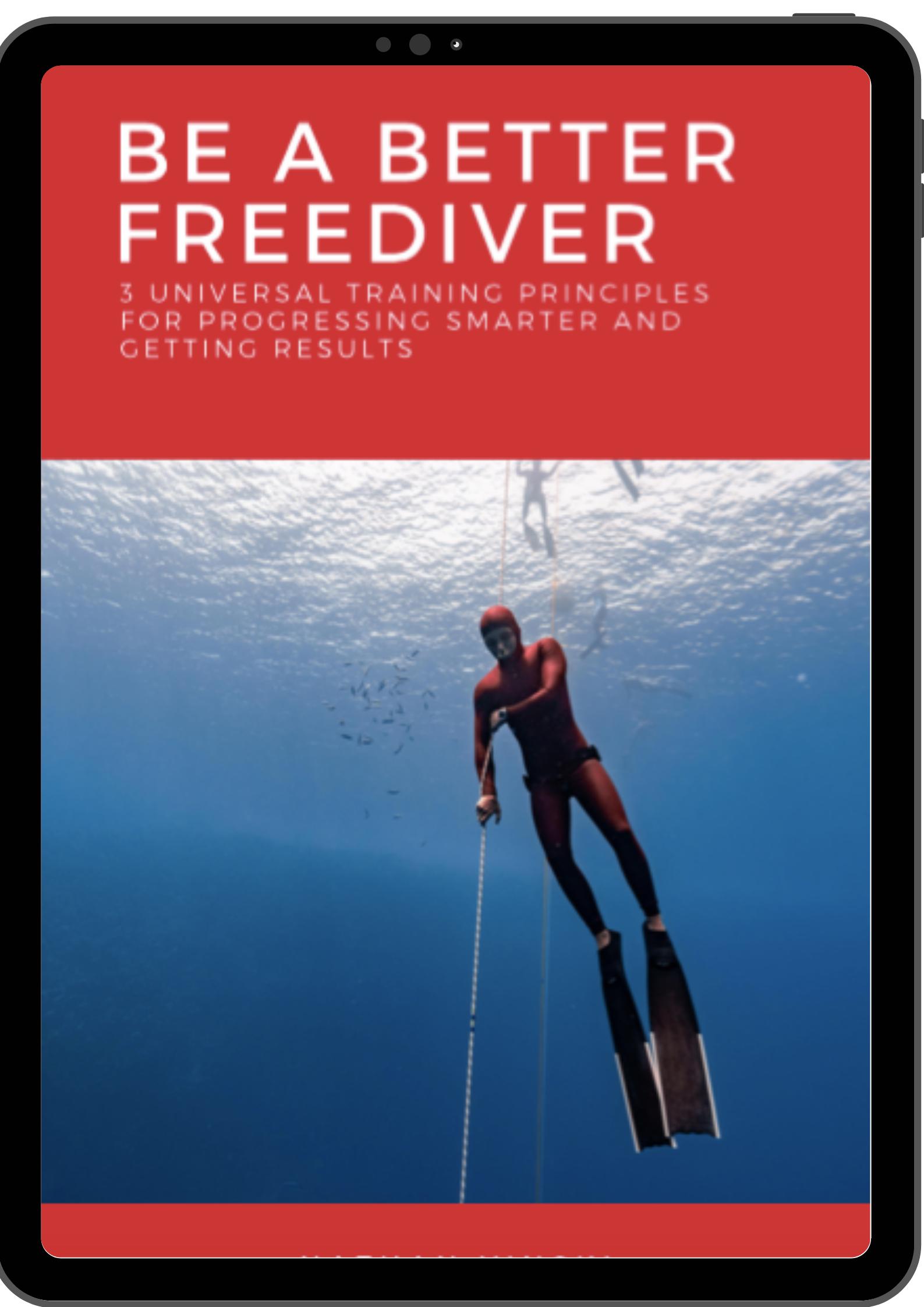 Freediving ebook, freedive book, freedive training, train freediving, nathan vinski freediver