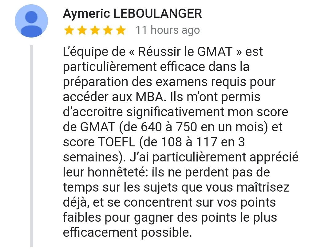 Cours de GMAT