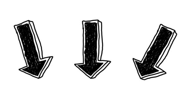 3 flèches vers le bas