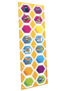 Planche en magnets : objectifs collectifs, personnels de l'Organiseur Familial Woody's Family