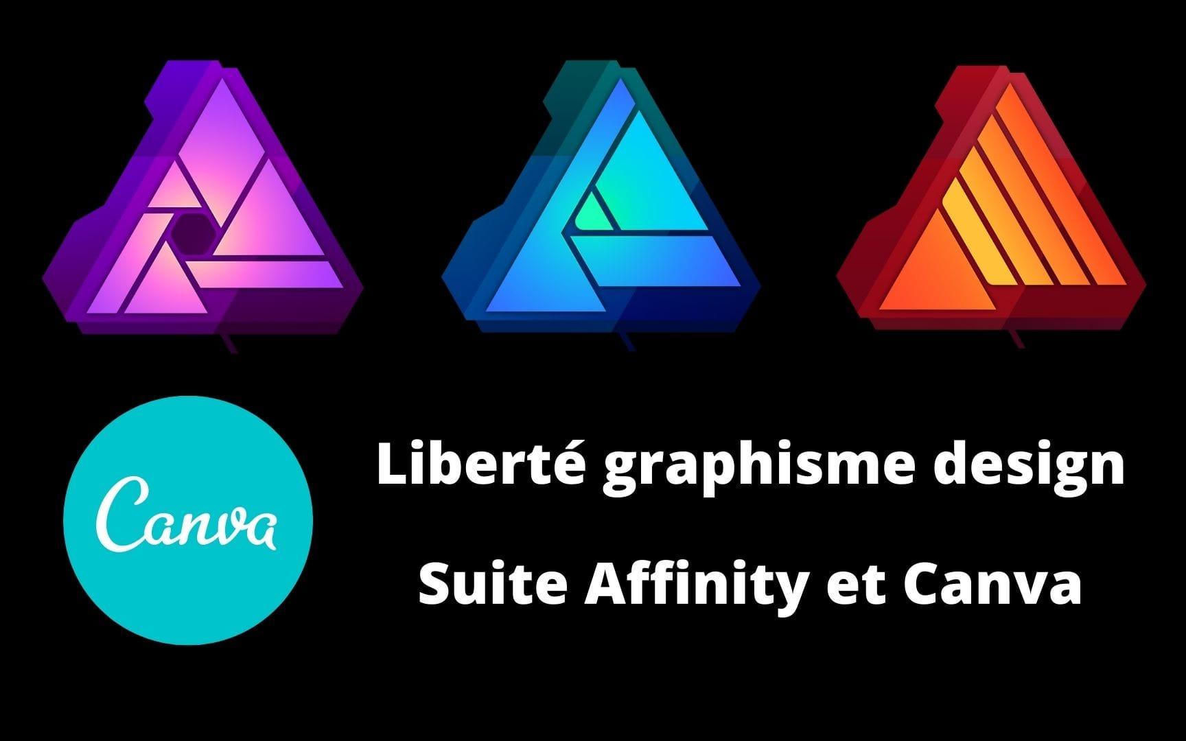 Formation graphisme design pour entrepreneur Affinity Photo Designer Publisher et Canva